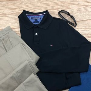 Men's Tommy Hilfiger Slim Fit Long Sleeve Polo 👕